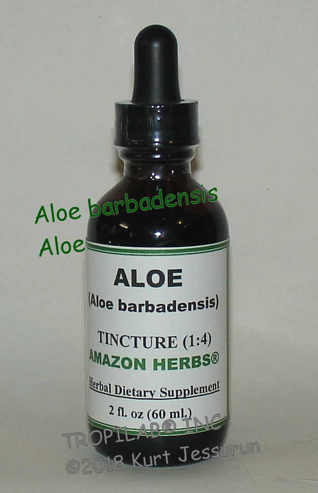 Aloe species - Aloe tincture only for US$18.65 per 2 fl oz.