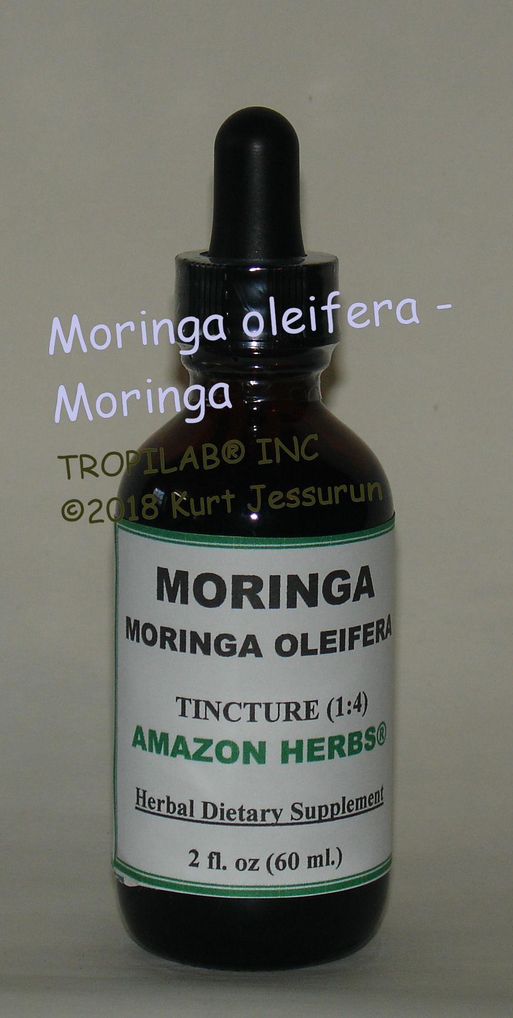 Moringa oleifera tincture - TROPILAB, many medicinal applications such as 